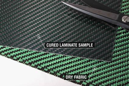210g Green 2x2 Twill 3k Carbon Fibre Cloth