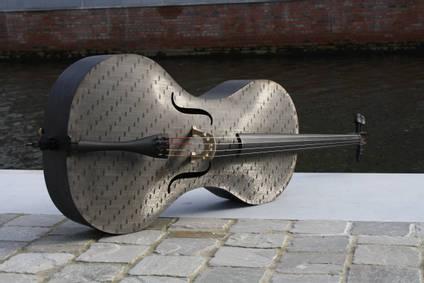 Carbon Fibre Cello near Water