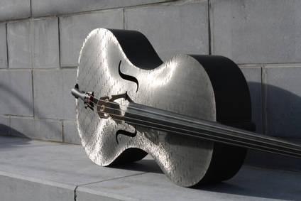 Carbon Fibre Cello on Wall