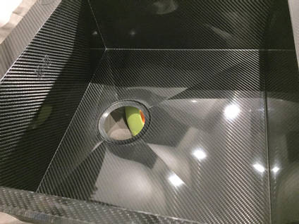 Carbon Fibre Sink V Weave Close Up