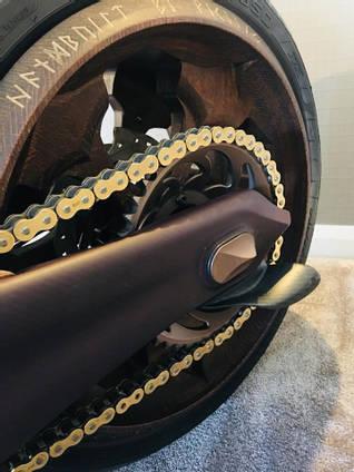 Custom Motorbike Wheel Detail