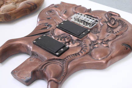 Octopus Guitar Copper Cold Casting