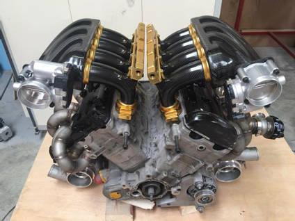 RPE V8 Carbon Fibre Engine Inlet Manifold Design