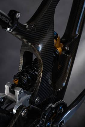 Sequence Carbon Fibre Downhill Bike Shock Tunnel