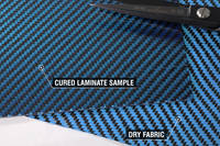 Appearance of Blue Carbon Fibre Fabric Once Laminated Thumbnail