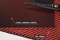 210g Red 2x2 Twill 3k Carbon Fibre Cloth Thumbnail