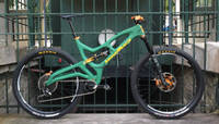 Carbon Fibre Bike Version One Painted Green Thumbnail