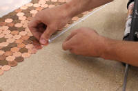 Laying the pennies