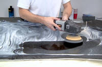 Sanding and polishing the mould