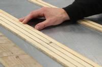 Wood strip core