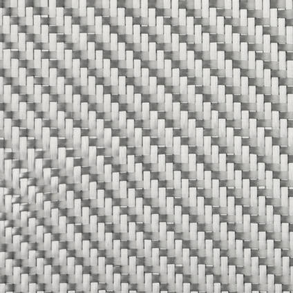 290g 2x2 Twill Alufibre Silver Glass Zoomed