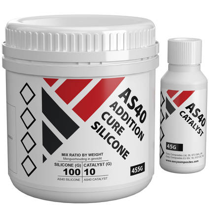 AS40 Addition Cure Silicone Rubber 0.5kg Kit