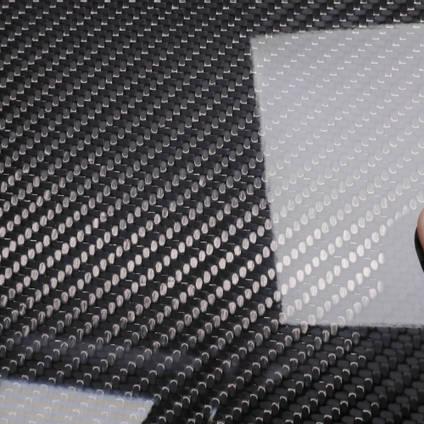 210g 2x2 Twill 3k Carbon Fibre Cloth Cured Laminate Sample