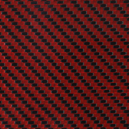 Red Carbon Fibre Cloth 2x2 Twill Cured Laminate Sample