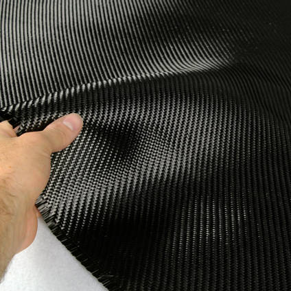 210g 2x2 Twill 3k Carbon Fibre Cloth In Hand