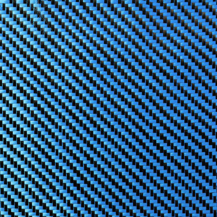 Blue Carbon Fibre Cloth 2x2 Twill Wide
