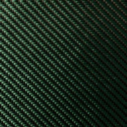 Green Carbon Fibre Cloth 2x2 Twill Wide