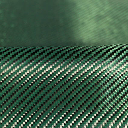 Green Carbon Fibre Cloth 2x2 Twill On Roll Abstract