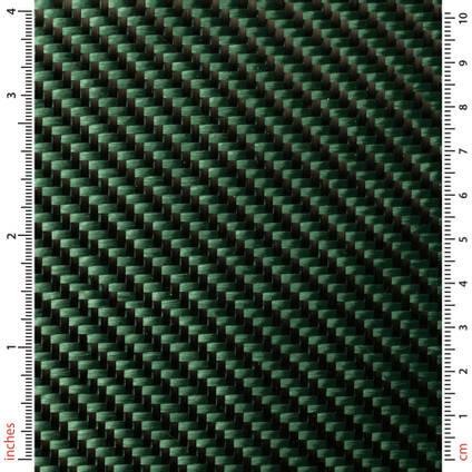 Green Carbon Fibre Cloth 2x2 Twill