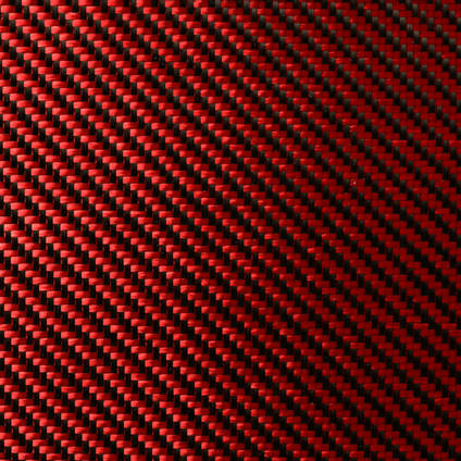 Red Carbon Fibre Cloth 2x2 Twill Wide