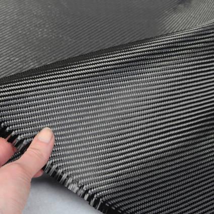 240g 2x2 Twill 3k Carbon Fibre Cloth In Hand