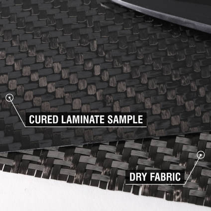 450g 2x2 Twill 12k Carbon Fibre Cloth Cured Laminate Sample