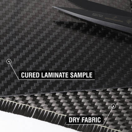 650g 2x2 Twill 12k Carbon Fibre Cloth Cured Laminate Sample