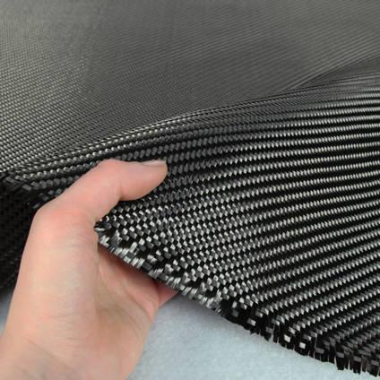 650g 2x2 Twill 12k Carbon Fibre Cloth In Hand