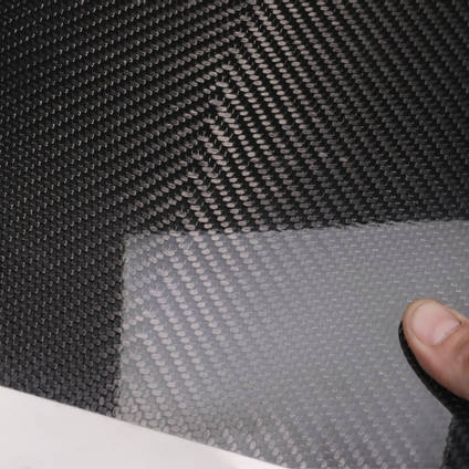 210g V-Weave 2x2 Twill 3k Carbon Fibre Cured Laminate Sample