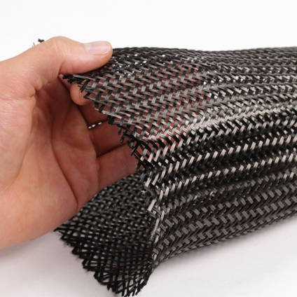 125mm Braided Carbon Fibre Sleeve Spread