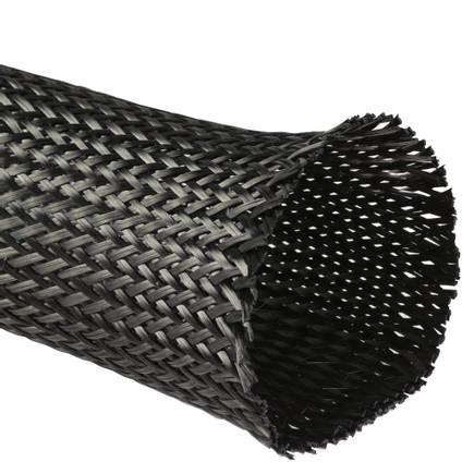 125mm Braided Carbon Fibre Sleeve