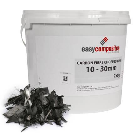 Chopped Tow Carbon Fibre 10-30mm 750g