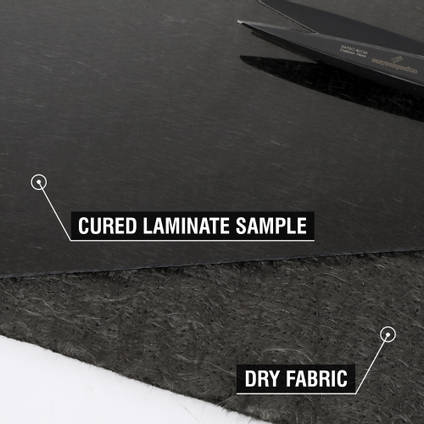 300g Carbon Fibre Non-Woven Mat Cured Laminate Sample