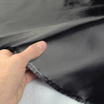 90g ProFinish Plain Weave 1k Carbon Fibre Cloth in Hand