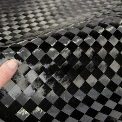 15mm Spread-Tow Plain Weave Carbon Fibre Cloth In Hand