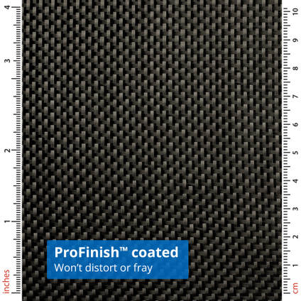 90g ProFinish Plain Weave 1k Carbon Fibre Cloth with Rulers