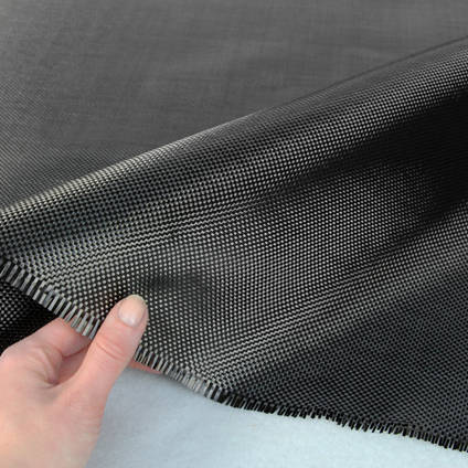 210g Plain Weave 3k Carbon Fibre Cloth In Hand