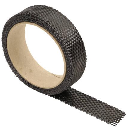 25mm Plain Weave Carbon Fibre Tape On a Roll