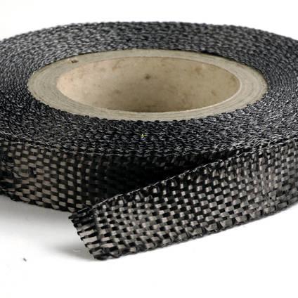 25mm Plain Weave Carbon Fibre Tape Full Roll