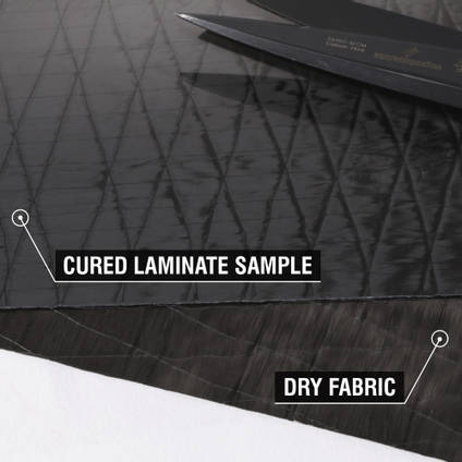 250g Unidirectional Carbon Fibre Cured Laminate Sample