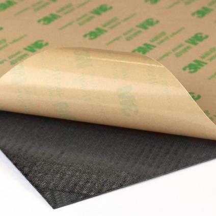 Optional 3M Self Adhesive Backing on Carbon FIbre Veneer