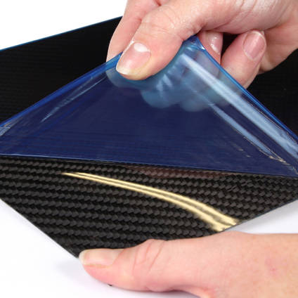 Removing the Protective Film from the Carbon Fibre Veneer