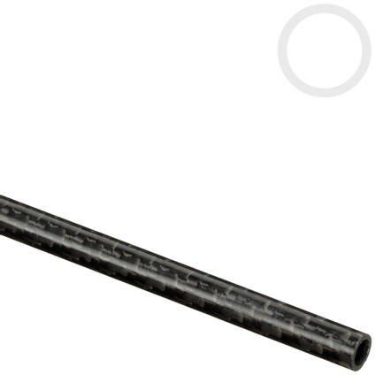 7mm (5mm) Woven Finish Roll Wrapped Carbon Fibre Tube
