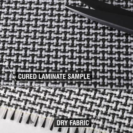 200g Plain Weave 3k Carbon Innegra Cured Laminate Sample