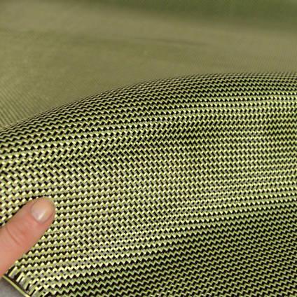 210g 2x2 Twill 3k Carbon Kevlar Cloth In Hand