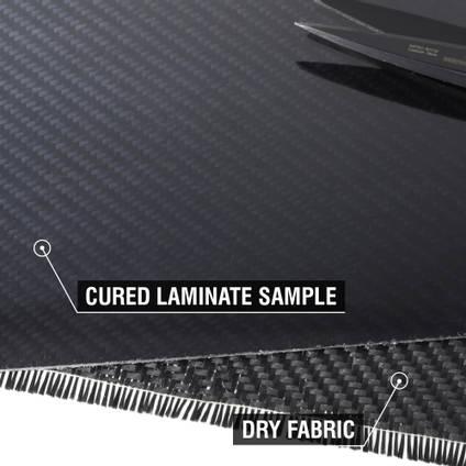 200g 2x2 Twill Black Diolen Cured Laminate Sample