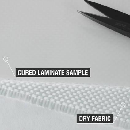 300g Plain Weave Diolen Cured Laminate Sample