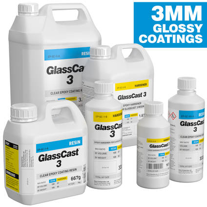 GlassCast 3 Clear Epoxy Coating Resin