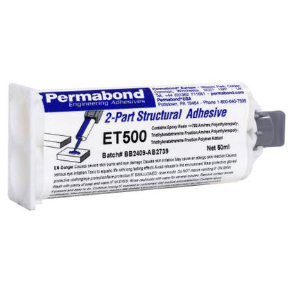 ET500 Rigid 5min Epoxy Adhesive 50ml Twin Tube