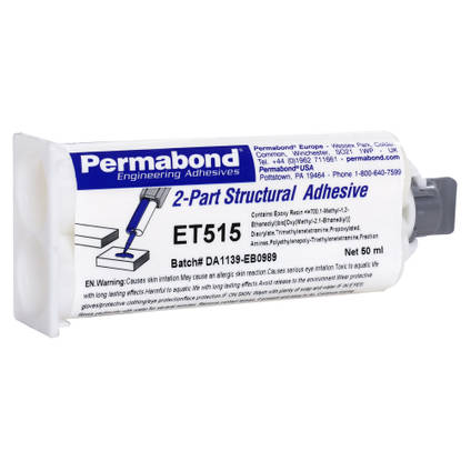 ET515 Semi Flexible 15min Epoxy Adhesive 50ml Twin Tube